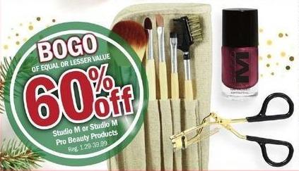 Meijer Black Friday: Studio M or Studio M Pro Beauty Products - B1G1 60% Off