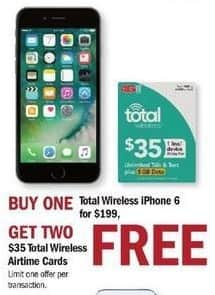 Meijer Black Friday: Total Wireless Apple iPhone 6 + Two $35 Total Wireless Airtime Cards for $199.00