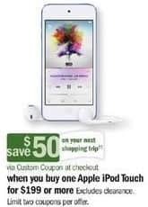 Meijer Black Friday: Apple iPod Touch + $50 Custom Coupon - Starting at $199