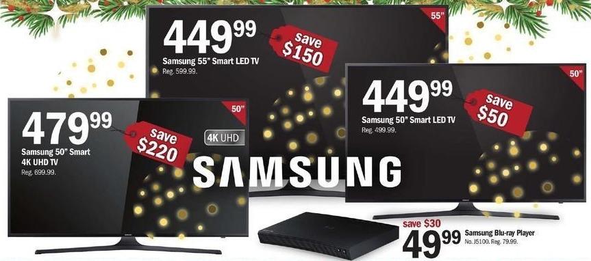 """Meijer Black Friday: 50"""" Samsung 4K UHD Smart TV for $479.99"""