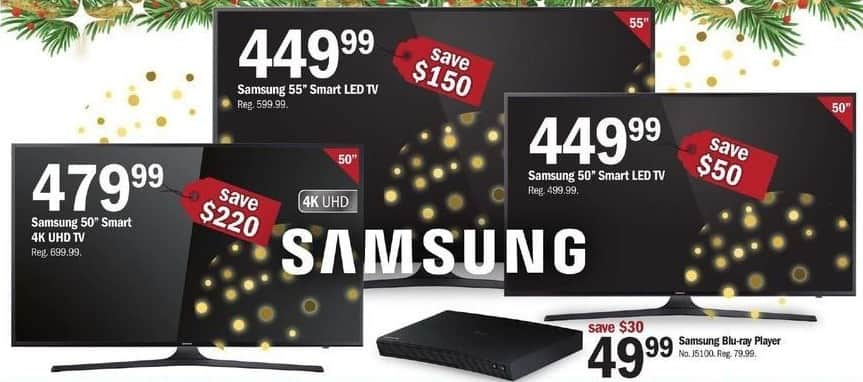 "Meijer Black Friday: 50"" Samsung Smart LED TV for $449.99"