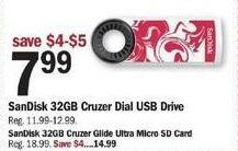 Meijer Black Friday: 32GB SanDisk Cruzer Dial USB Drive for $7.99