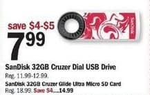 Meijer Black Friday: 32GB SanDisk Cruzer Glide Ultra Micro SD Card for $14.99