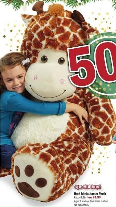 Meijer Black Friday: Best Made Jumbo Plush for $24.99