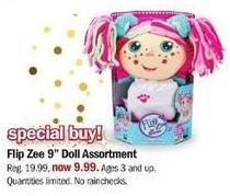 """Meijer Black Friday: Flip Zee 9"""" Doll Assortment for $9.99"""