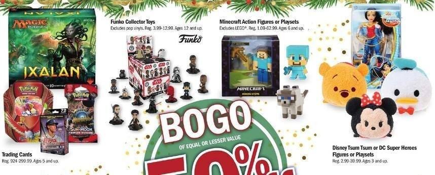 Meijer Black Friday: Minecraft Action Figures or Playsets - B1G1 50% Off