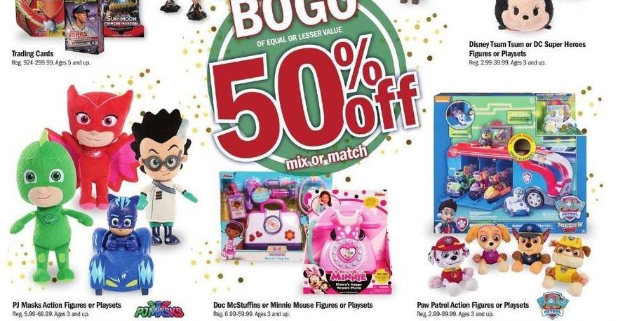 Meijer Black Friday: PJ Masks Action Figures or Playsets - B1G1 50% Off