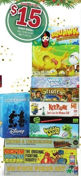 Meijer Black Friday: Select Games: Rotten Apples, Stratego, Where's Olaf? & More for $15.00