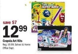 Meijer Black Friday: Crayola Art Kits for $12.99