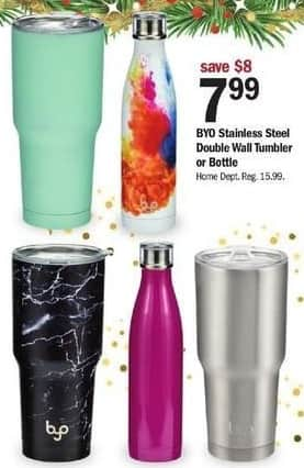 Meijer Black Friday: BYO Stainless Steel Double Wall Tumbler or Bottle for $7.99