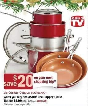 Meijer Black Friday: Red Copper 10-pc Cookware Set + $20 Custom Coupon for $99.99