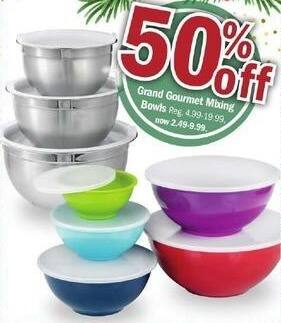 Meijer Black Friday: Grand Gourmet Mixing Bowls for $2.49 - $9.99