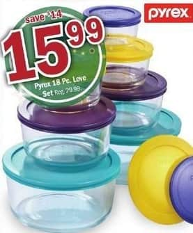 Meijer Black Friday: Pyrex 18-pc Set for $15.99