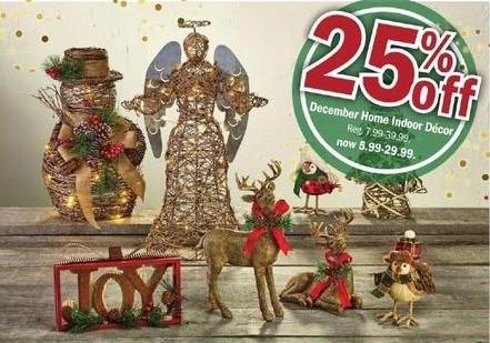 Meijer Black Friday: December Home Indoor Decor - 25% Off