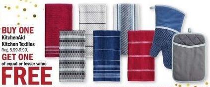 Meijer Black Friday: KitchenAid Kitchen Textiles - B1G1 Free