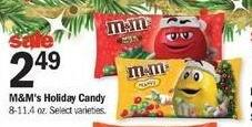 Meijer Black Friday: M&Ms Holiday Candy for $2.49