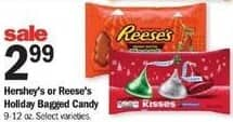 Meijer Black Friday: Hershey's or Reese's Holiday Bagged Candy for $2.99