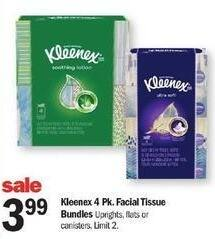 Meijer Black Friday: Kleenex 4-Pack Facial Tissue Bundles for $3.99