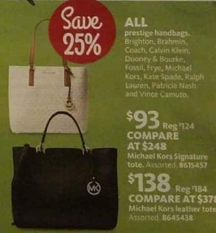 AAFES Black Friday: Michael Kors Signature Tote for $93.00