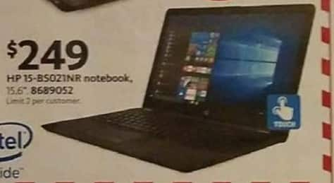"""AAFES Black Friday: HP 15-BS021NR 15.6"""" Notebook for $249.00"""