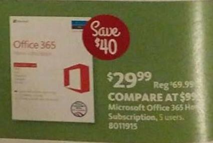 AAFES Black Friday: Microsoft Office 365 Home Subscription (5 Users) for $29.99