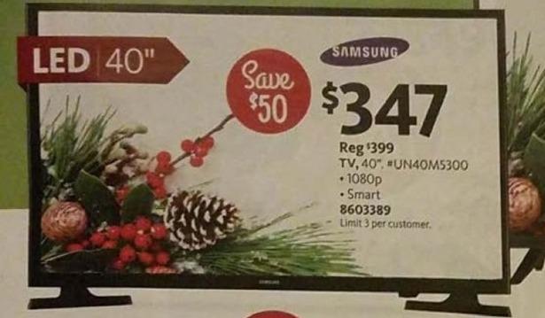 "AAFES Black Friday: 40"" Samsung UN40M5300 1080p Smart TV for $347.00"