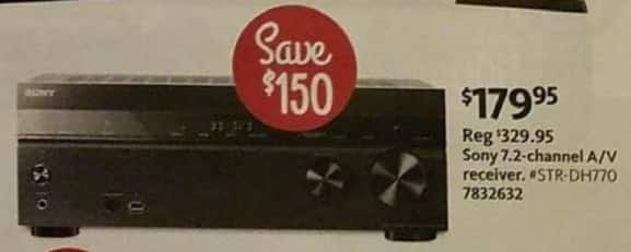 AAFES Black Friday: Sony 7.2-Channel A/V Receiver (STR-DH770) for $179.95
