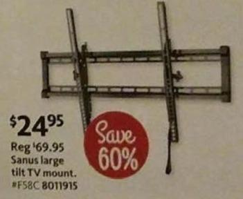 AAFES Black Friday: Sanus Large Tilt TV Mount for $24.95