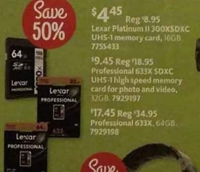 AAFES Black Friday: 32GB Lexar Professional 633X SDXC UHS-1 Memory Card for $9.45