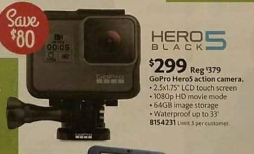 AAFES Black Friday: GoPro Hero5 Action Camera for $299.00