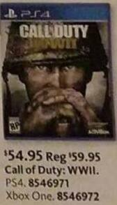 AAFES Black Friday: Call of Duty: WWII (PS4/Xbox One) for $54.95
