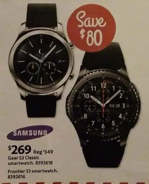 AAFES Black Friday: Samsung Gear S3 Classic or Frontier S3 Smartwatch for $269.00