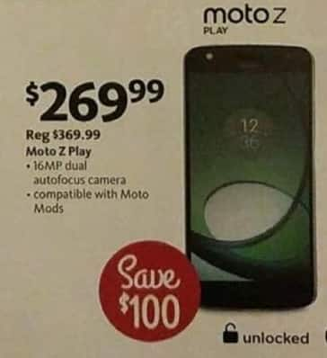 AAFES Black Friday: Moto Z Play Unlocked Smartphone for $269.99