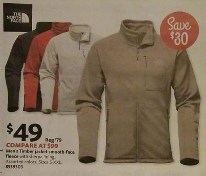 AAFES Black Friday: The North Face Men's Timber Smooth-Face Fleece Jacket for $49.00