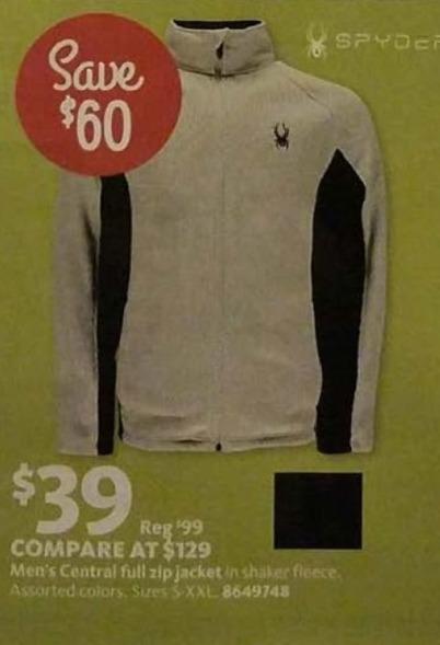 AAFES Black Friday: Spyder Men's Central Full-Zip Jacket for $39.00