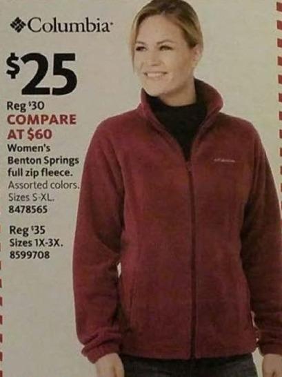 AAFES Black Friday: Columbia Women's Benton Springs Full Zip Fleece for $25.00