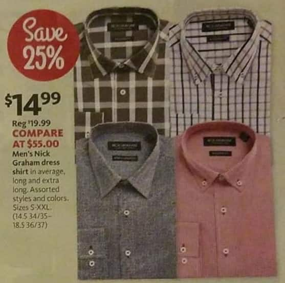 AAFES Black Friday: Nick Graham Men's Dress Shirt for $14.99