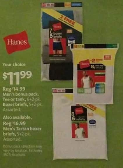 AAFES Black Friday: Hanes Men's Bonus Pack Tee, Tank or Boxer Briefs for $11.99