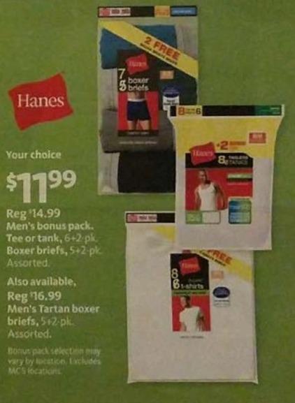 AAFES Black Friday: Hanes Men's Tartan Boxer Briefs for $11.99
