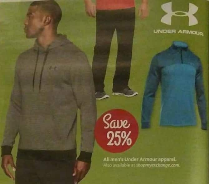 AAFES Black Friday: All Under Armour Men's Apparel - 25% Off