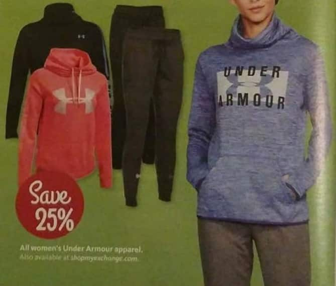 AAFES Black Friday: All Under Armour Women's Apparel - 25% Off