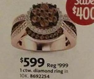 AAFES Black Friday: 1-ct T.W. Diamond 10k Gold Ring for $599.00