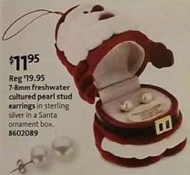 AAFES Black Friday: 7-8mm Freshwater Cultured Pearl Stud Earrings for $11.95