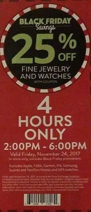AAFES Black Friday: Fine Jewelry and Watches - 25% Off