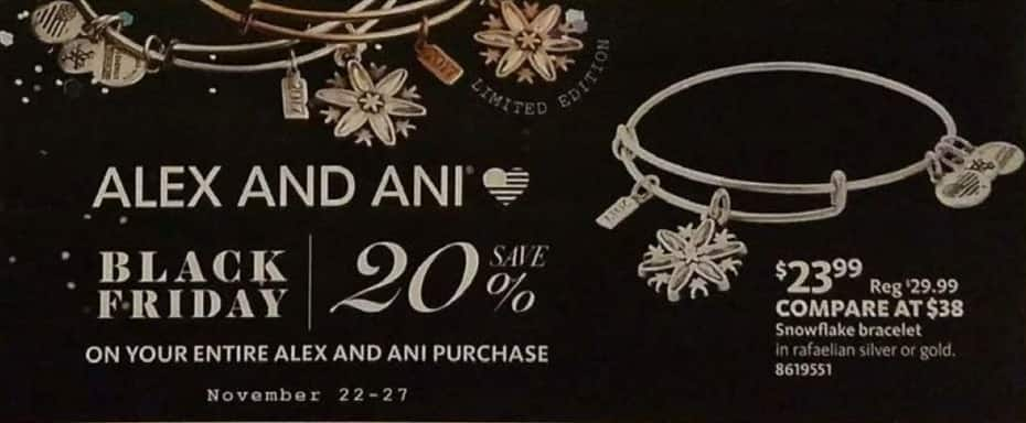 AAFES Black Friday: Alex and Ani Jewelry - 20% Off