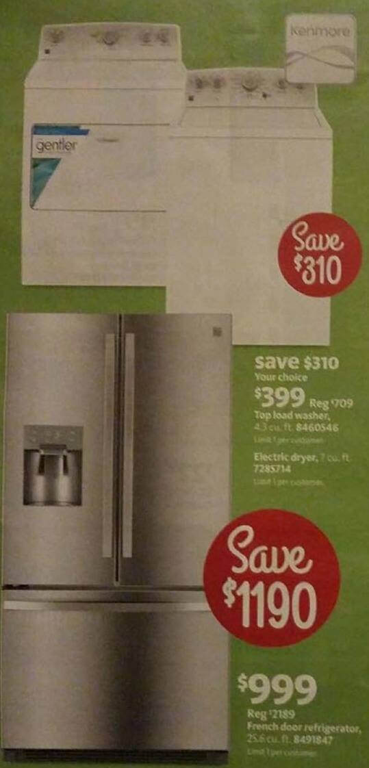 AAFES Black Friday: Kenmore 25.6 Cu. Ft. French Door Refrigerator for $999.00
