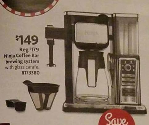 AAFES Black Friday: Ninja Coffee Bar Brewing System for $149.00