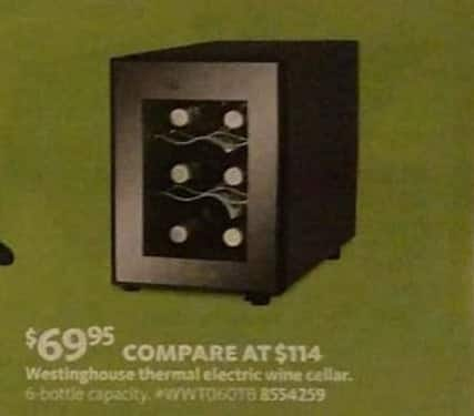 AAFES Black Friday: Westinghouse 6-Bottle Thermal Electric Wine Cellar for $69.95