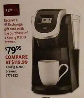 AAFES Black Friday: Keurig K200 Brewer + $15 Exchange Gift Card for $79.95