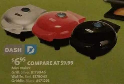 AAFES Black Friday: Dash Mini Maker Grill, Waffle or Griddle for $6.95